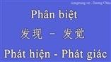 Phân biệt 发现 - 发觉 Phát hiện - Phát giác trong tiếng Trung