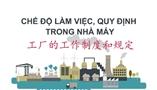 Cùng học tiếng Trung theo chủ đề: Bài 14 - CHẾ ĐỘ LÀM VIỆC, QUY ĐỊNH TRONG NHÀ MÁY