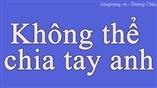 Cùng tiengtrung.vn học tiếng Trung qua bài hát Không thể chia tay anh